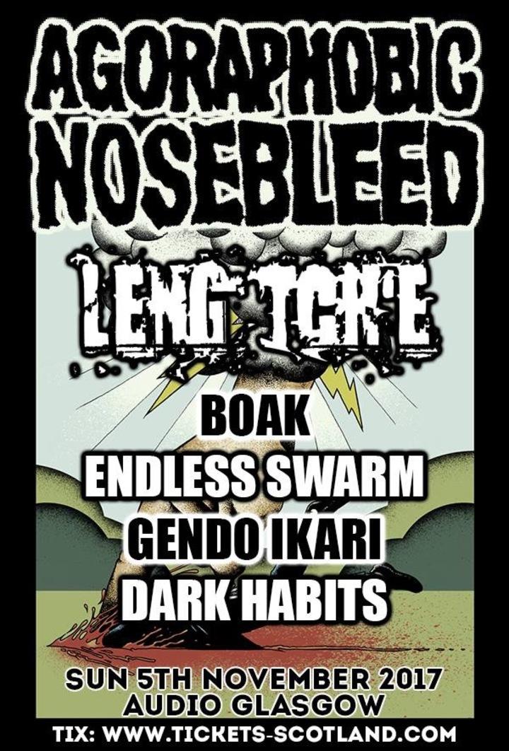 Agoraphobic Nosebleed @ Audio - Glasgow, United Kingdom
