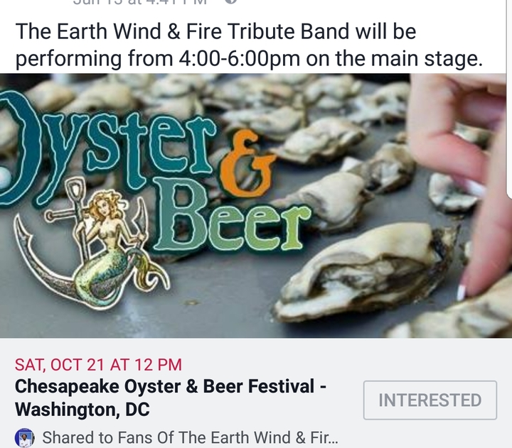 Earth Wind & Fire Tribute Band @ Navy Yard - Washington, DC