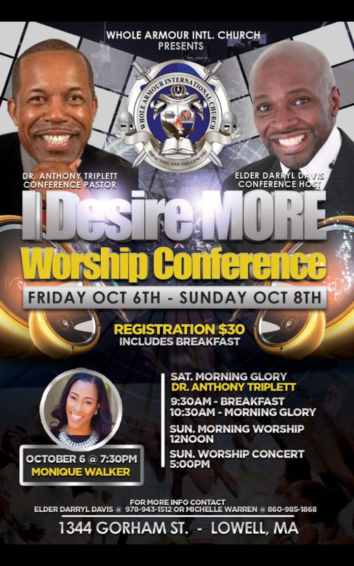 Monique Walker @ Whole Armour International Church - Lowell, MA
