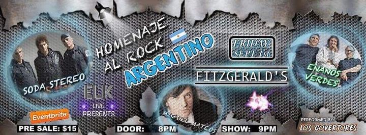 Homenaje al Rock Argentino @ Fitzgerald's  - Houston, TX