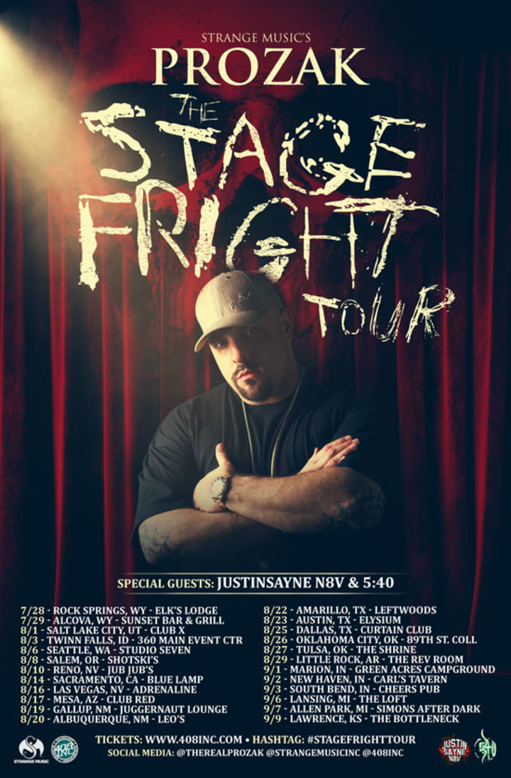 "408inc - Music Media Giants @ PROZAK ""Stage Fright Tour"" Live @ The Bottleneck - Lawrence, KS"