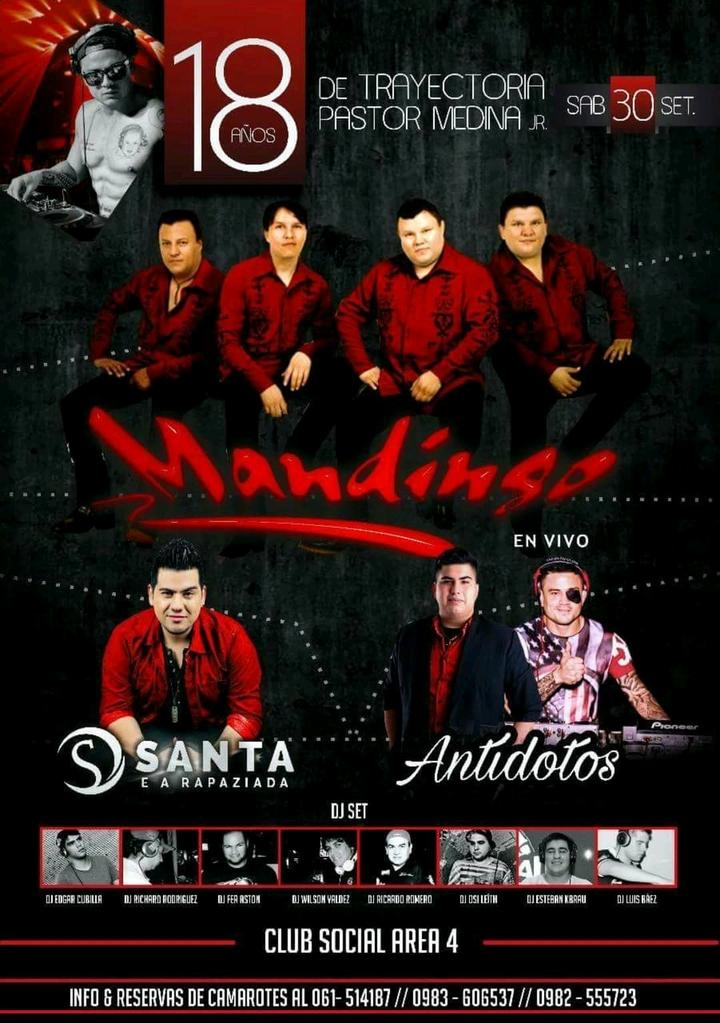 Grupo Mandingo @ Club Social del Area 4 - Ciudad Del Este, Paraguay
