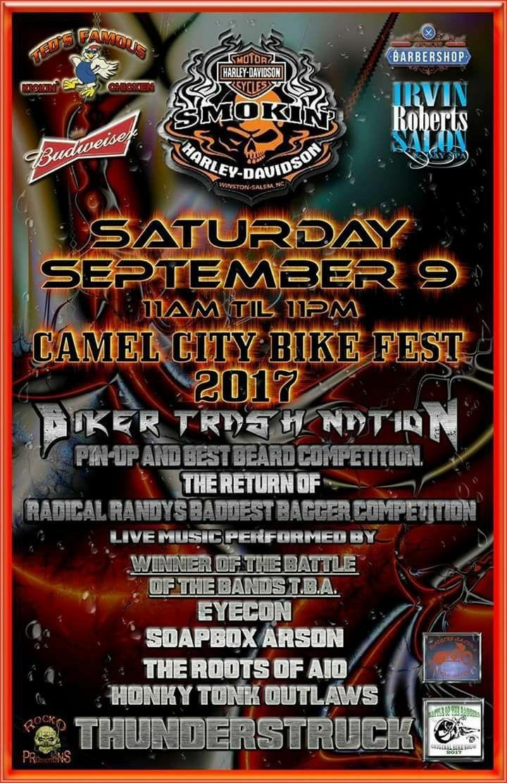 Honky-Tonk Outlaws @ Camel City Bikefest  - Winston-Salem, NC