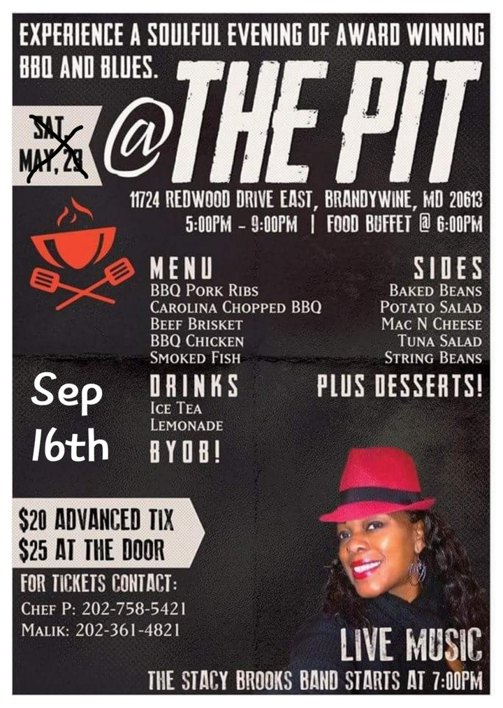 Stacy Brooks Music @ Blues & BBQ @ The Pit - Brandywine, MD