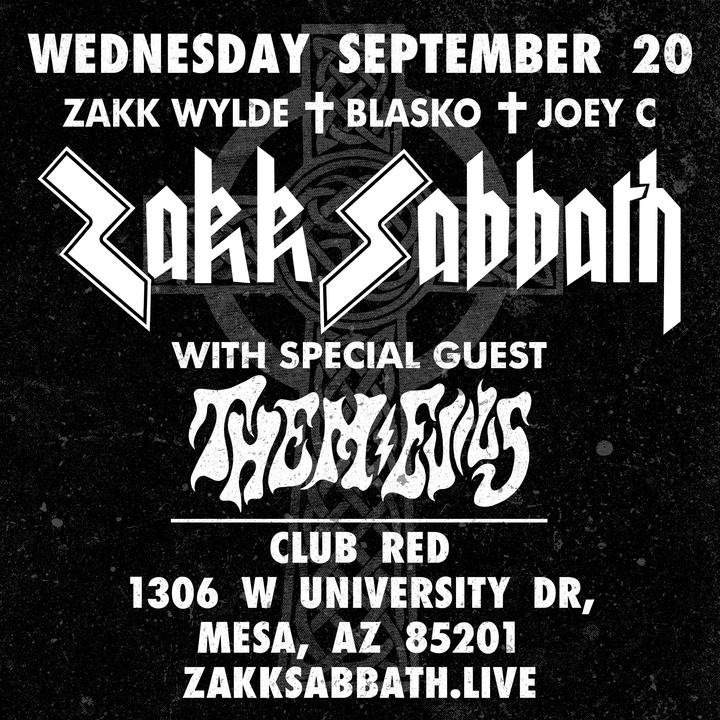 Zakk Sabbath @ Club Red-East Theater - Mesa, AZ