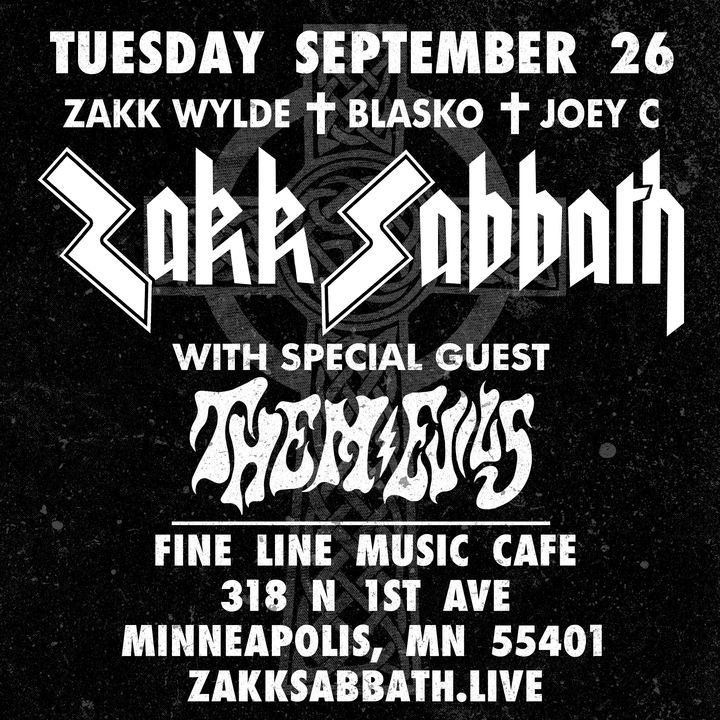 Zakk Sabbath @ Fine Line Music Cafe - Minneapolis, MN
