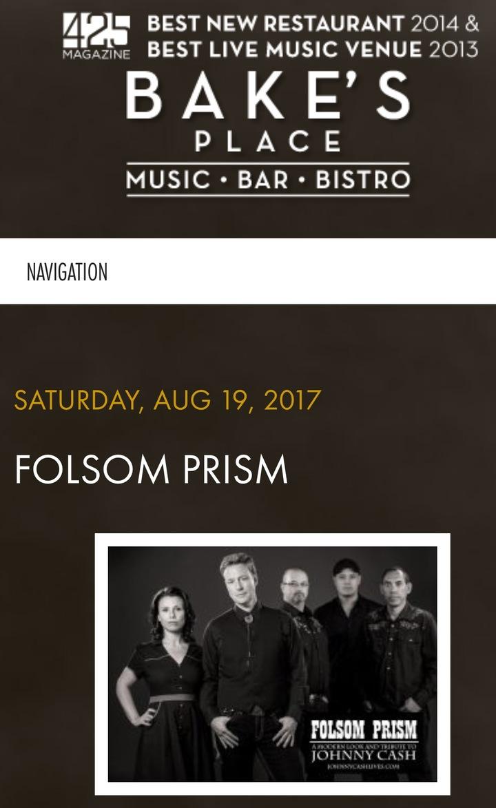 Folsom Prism @ Bake's Place - Bellevue, WA