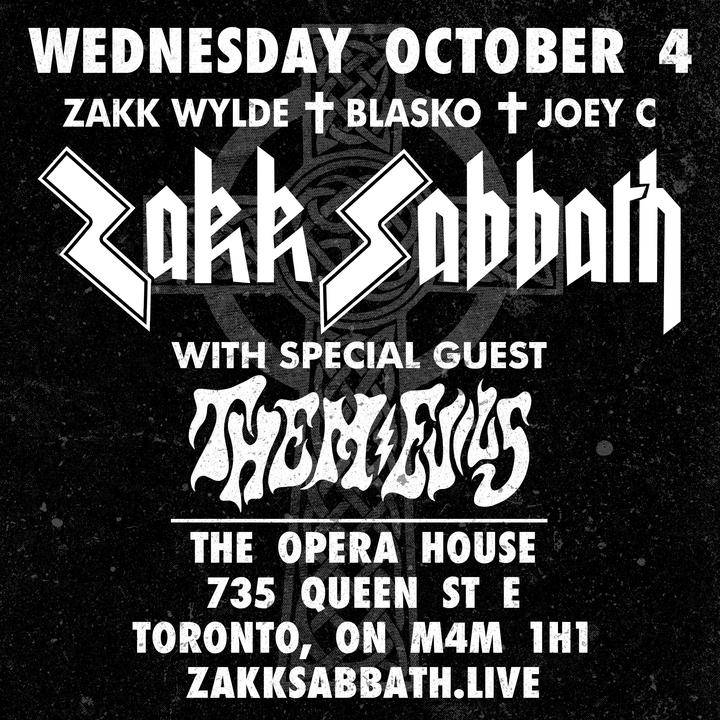 Zakk Sabbath @ Opera House - Toronto, Canada