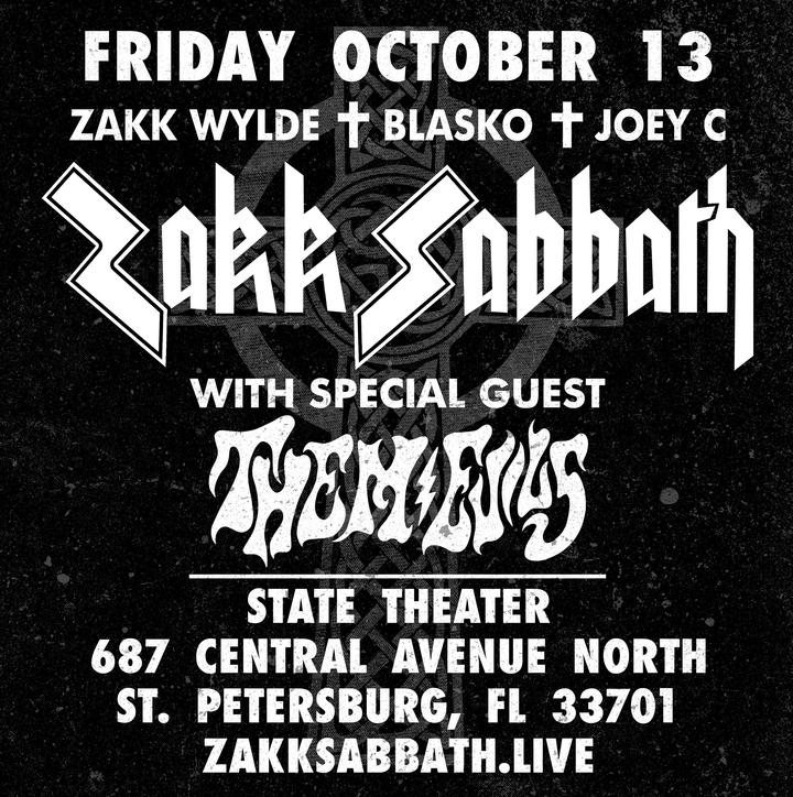 Zakk Sabbath @ State Theatre - St Petersburg, FL