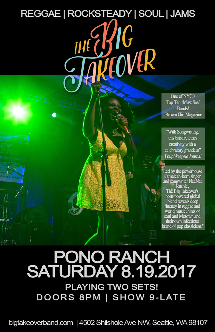 The Big Takeover @ Pono Ranch - Seattle, WA