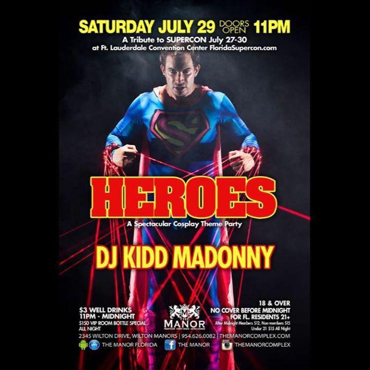 DJ Kidd Madonny Tour Dates