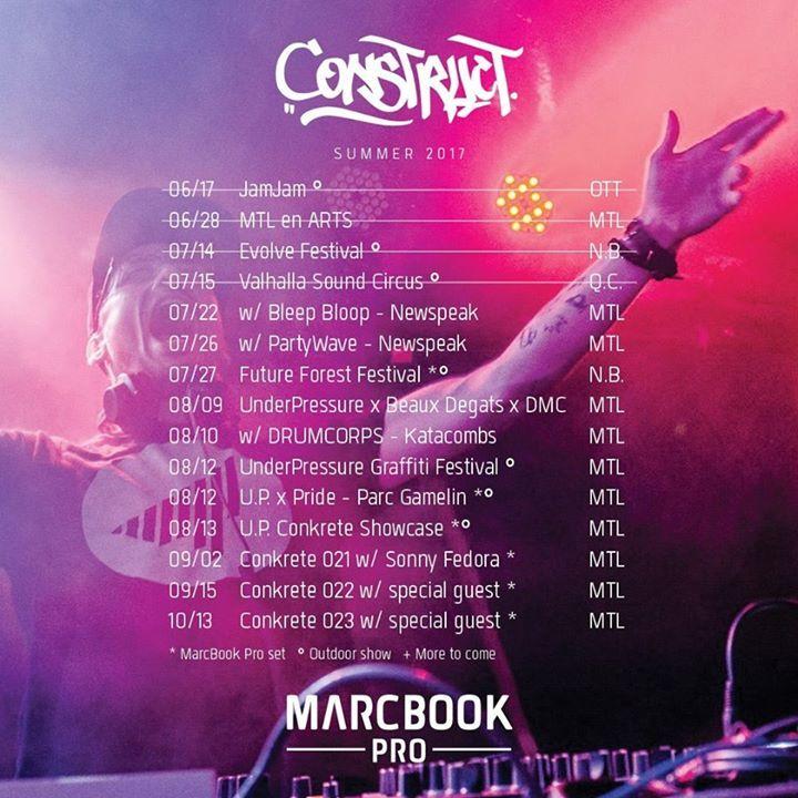 Construct Tour Dates