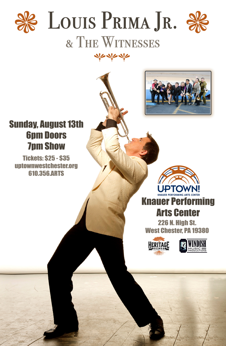 Louis Prima, Jr. and the Witnesses @ Uptown! Entertainment Alliance - West Chester, PA