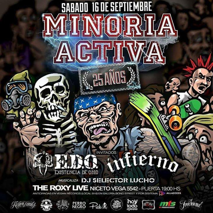 Minoria Activa Tour Dates