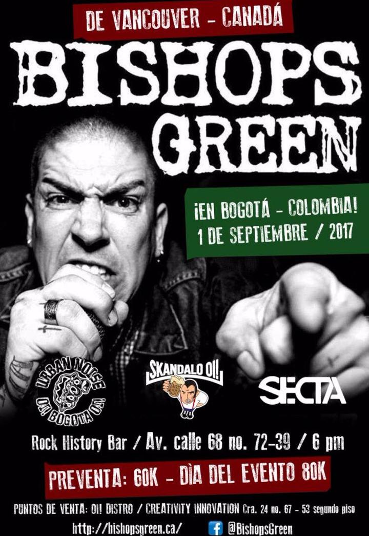 Bishops Green @ Rock History Bar - Bogota, Colombia