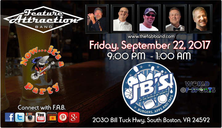 The Feature Attraction Band @ JB's (World of Sports) - South Boston, VA