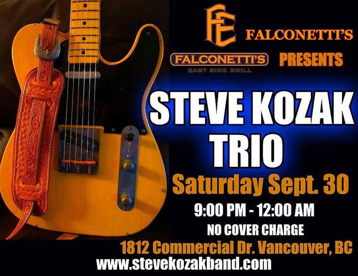Steve Kozak @ Falconetti's East Side Grill - Vancouver, BC