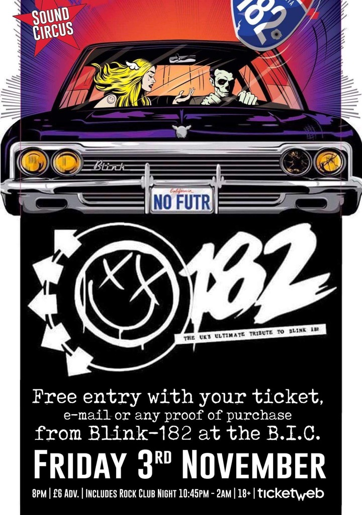 182 - UK Tribute Act To Blink 182 @ Sound Circus - Bournemouth, United Kingdom
