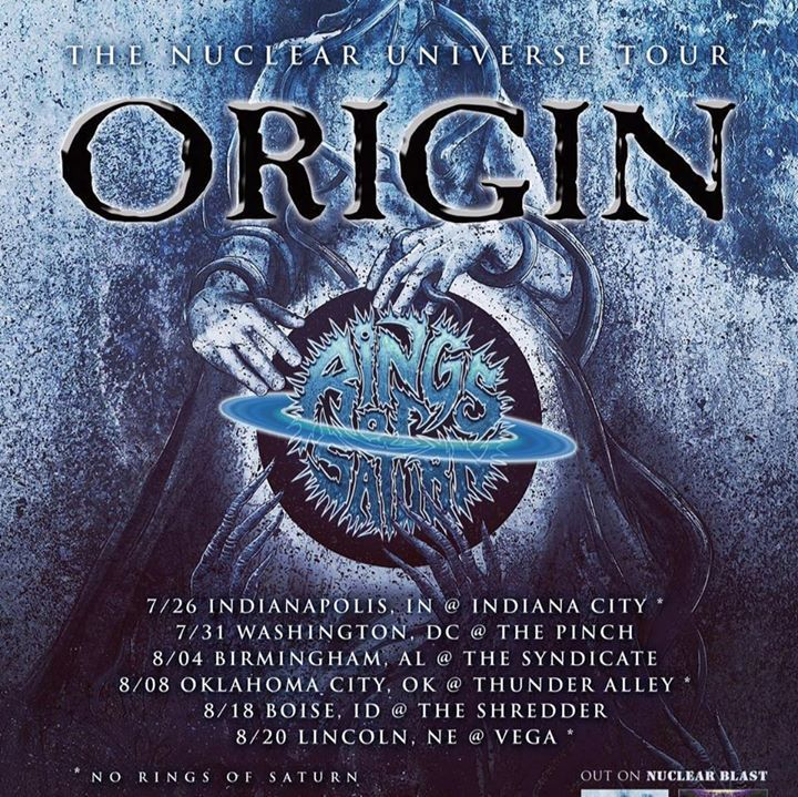 Origin Tour Dates