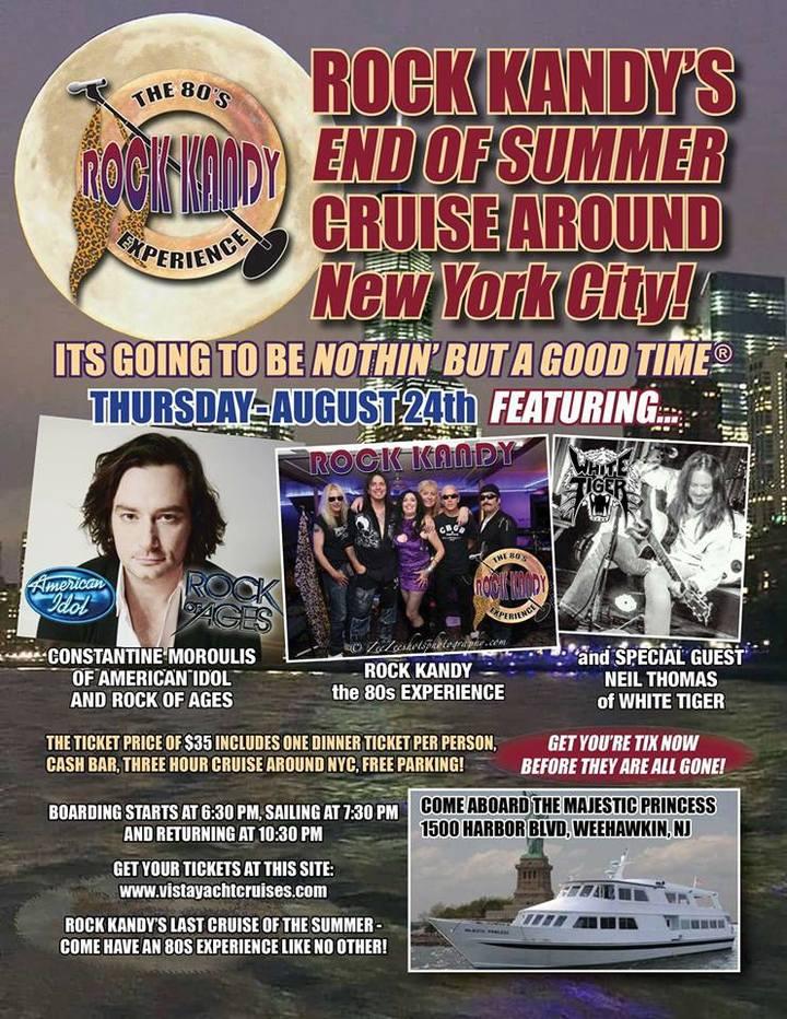 Constantine Maroulis @ Rock Kandy's 80's Cruise Around NYC - Weehawken, NJ