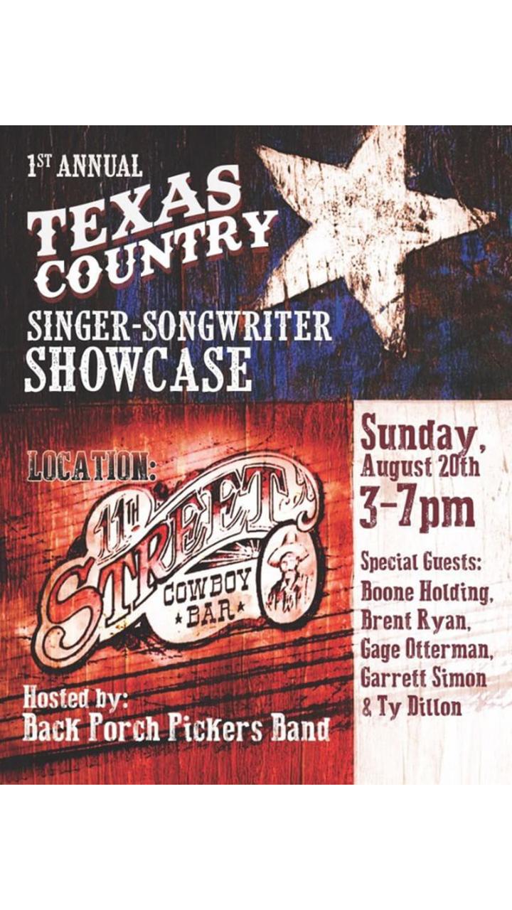 Ty Dillon @ 11th Street Cowboy Bar - Lakehills, TX