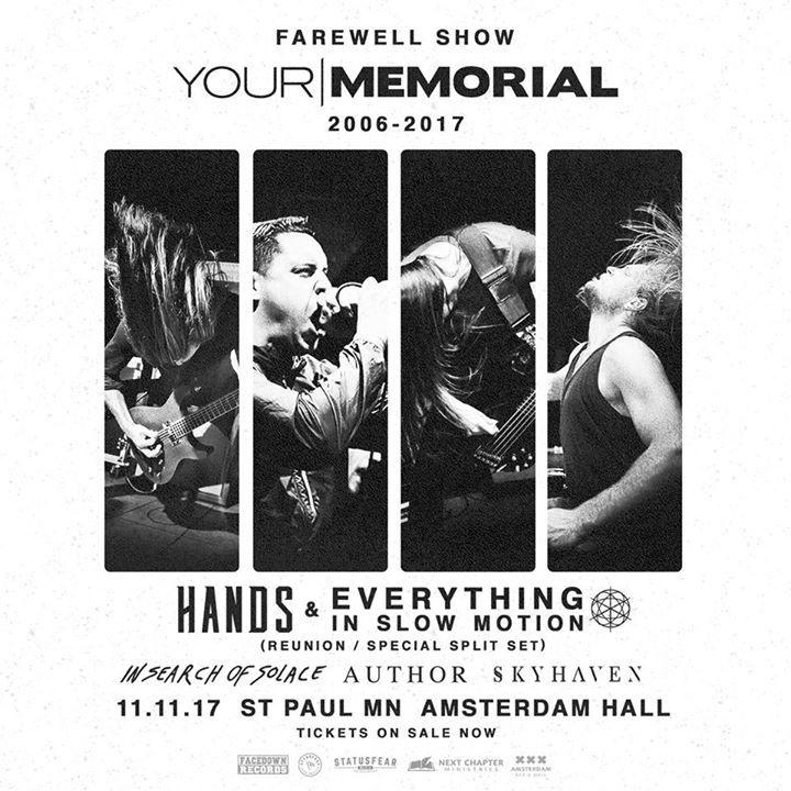 Your Memorial Tour Dates
