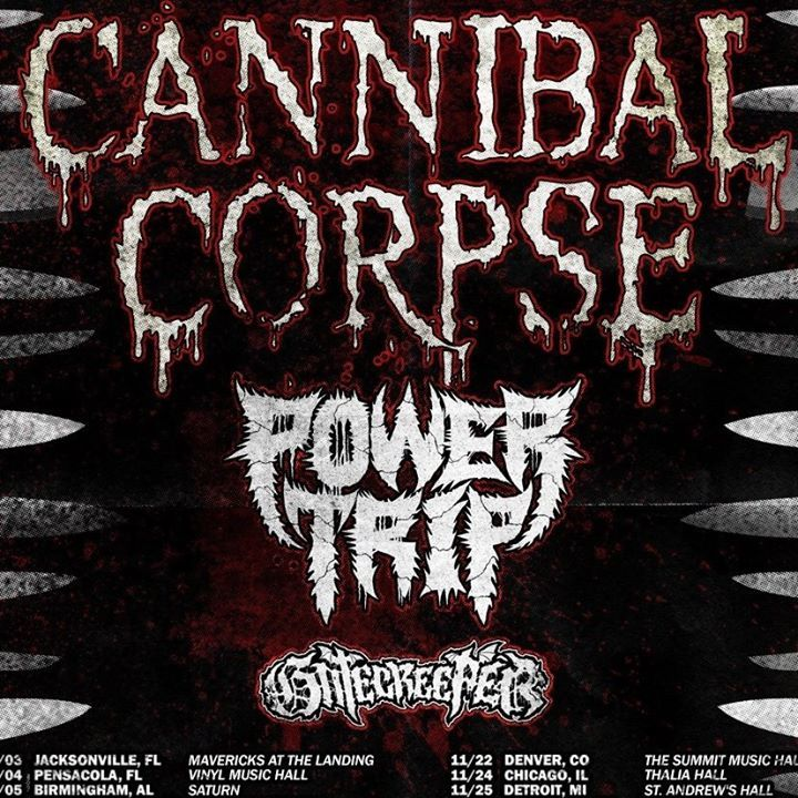 Cannibal Corpse @ Mavericks at The Landing - Jacksonville, FL