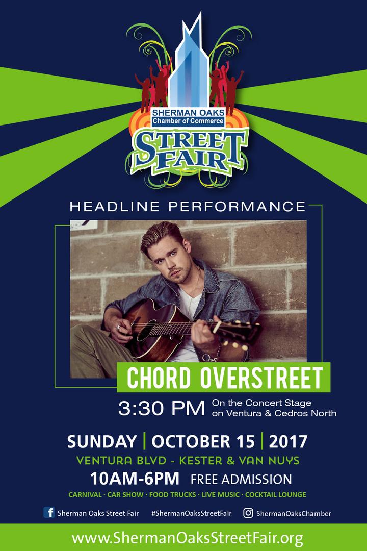 Chord Overstreet @ Sherman Oaks Street Fair  - Sherman Oaks, CA