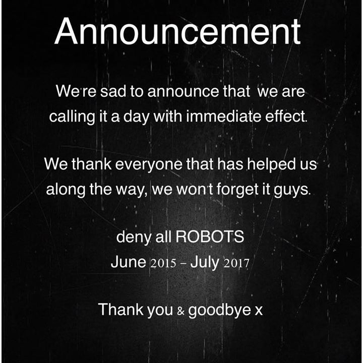 deny all ROBOTS Tour Dates