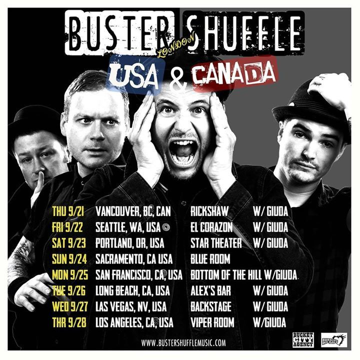 Buster Shuffle Official Tour Dates
