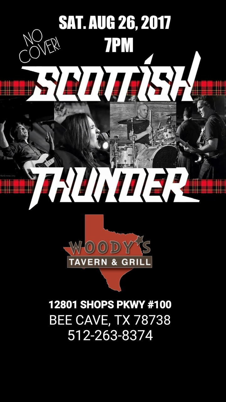 Scottish Thunder @ Woody's Tavern & Grill - Bee Cave, TX