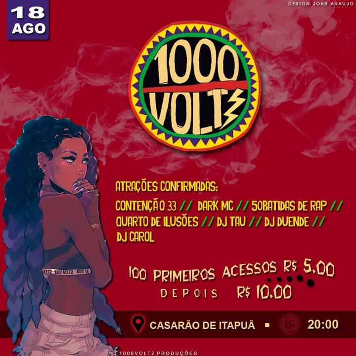 Dj Tau Brasil @ Dj Set / Festa #1000volts - Salvador, Brazil