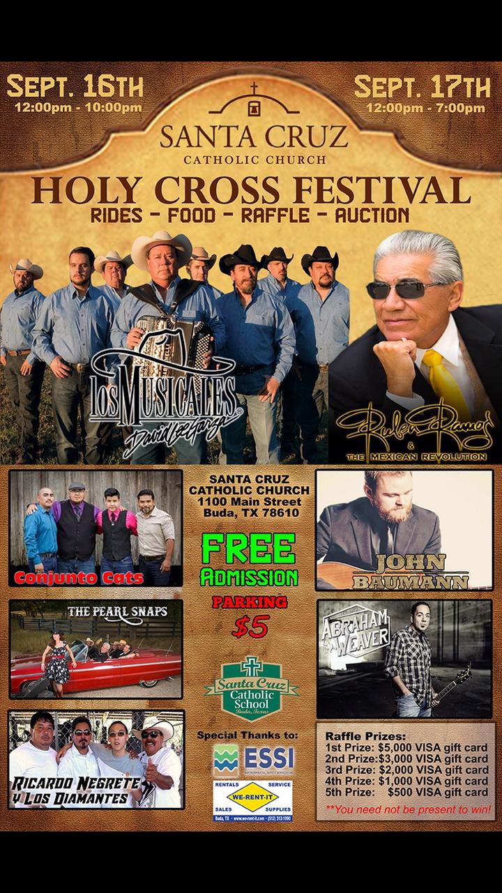 David Lee Garza y Los Musicales @ Santa Cruz Church Festival - Buda, TX