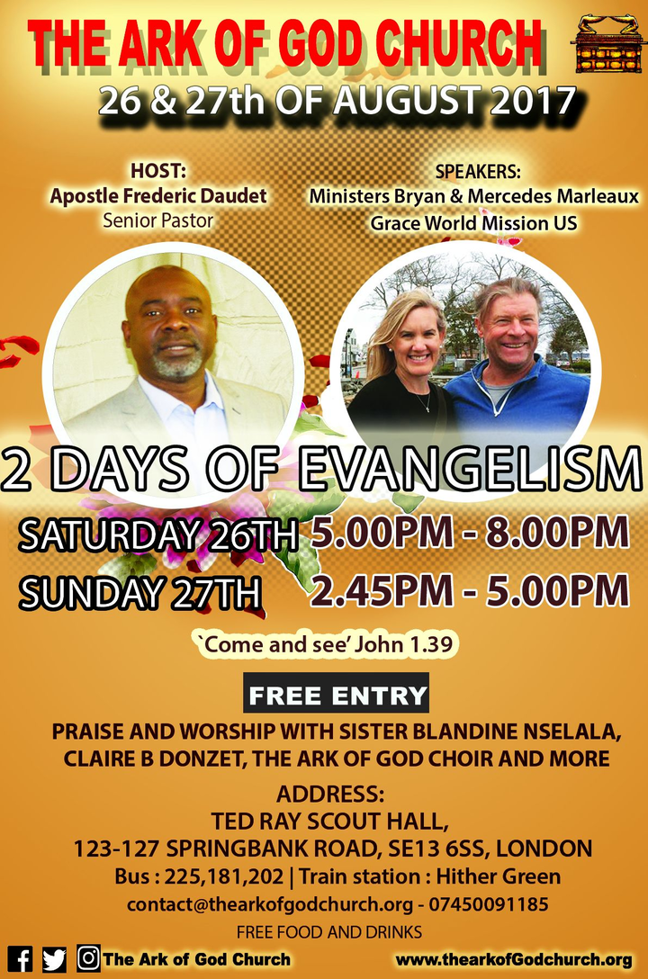 Claire B.Donzet @ The Ark of God Church - London, United Kingdom