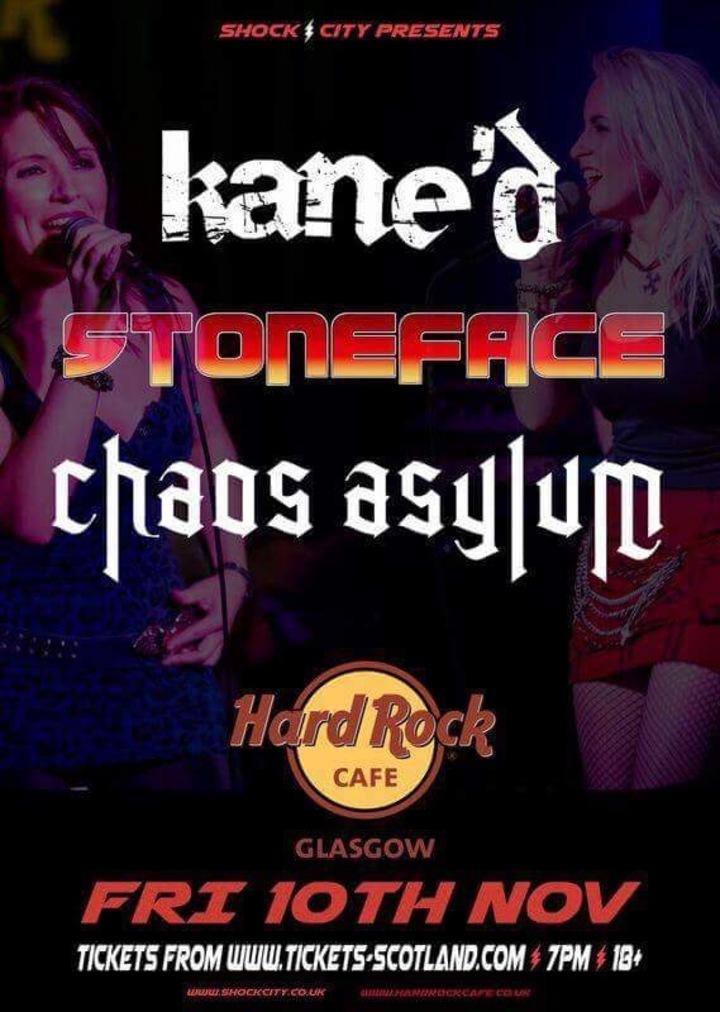 Stoneface @ Hard Rock Cafe - Glasgow, United Kingdom