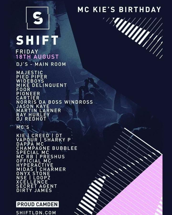 Control-S @ Shift - MC Kie's Birthday Bash @ Proud Camden - London, United Kingdom