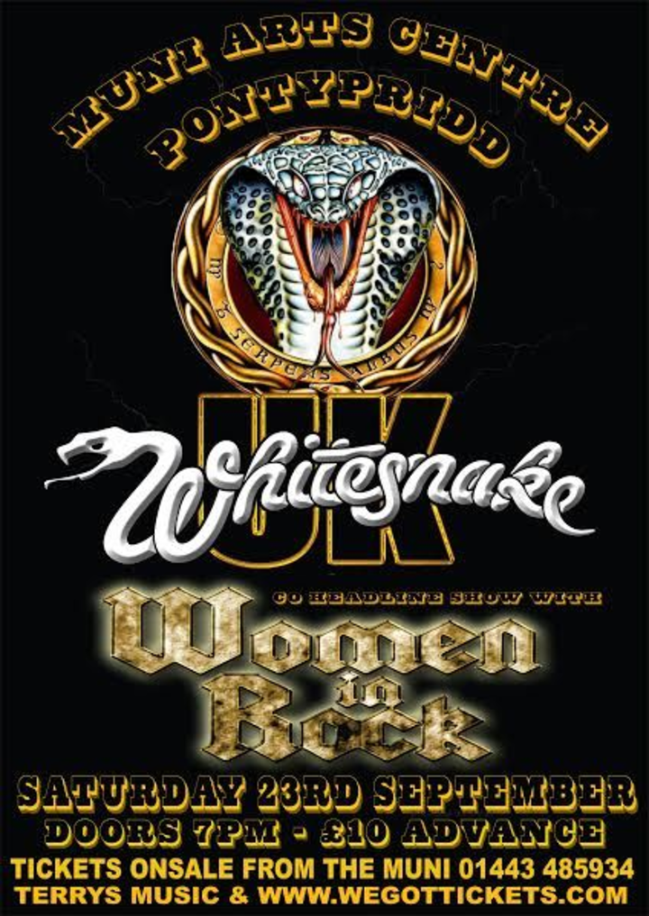 Whitesnake UK (the tribute) @ The Muni Arts Centre - Pontypridd, United Kingdom