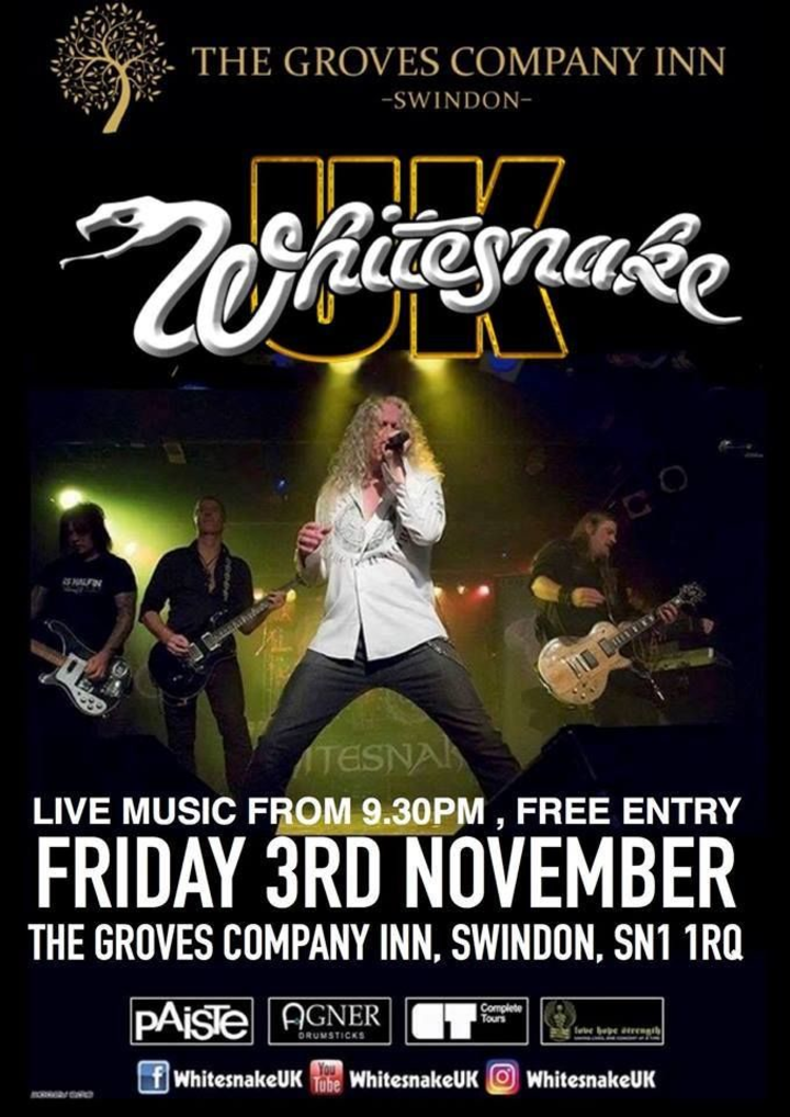 Whitesnake UK (the tribute) @ The Groves Company Inn - Swindon, United Kingdom