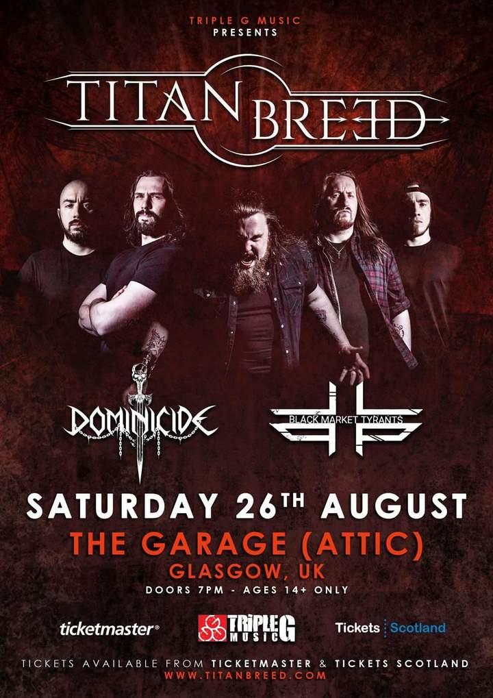 Titan Breed @ The Garage (Attic) - Glasgow, United Kingdom