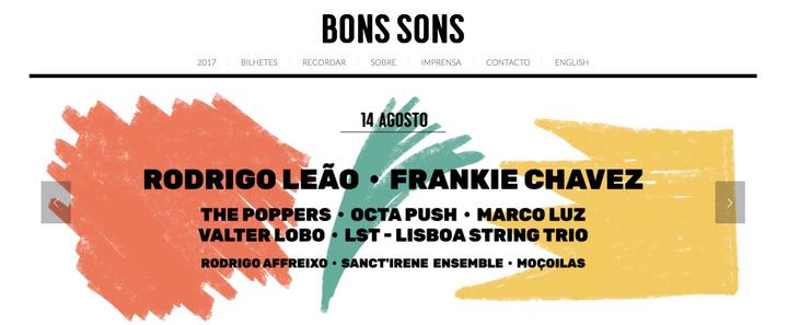 Frankie Chavez @ FESTIVAL BONS SONS  - Cem Soldos, Portugal