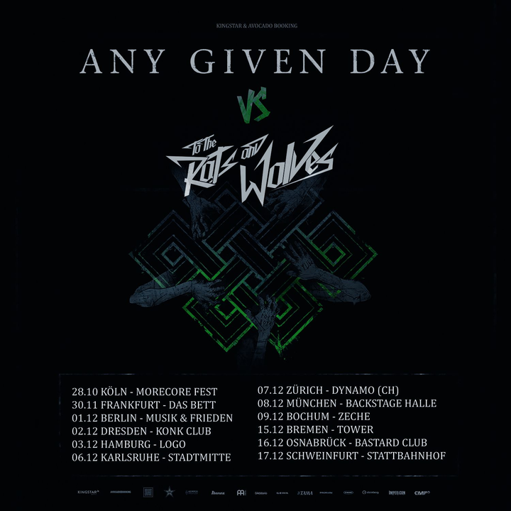 Any Given Day @ Bastard Club - Osnabruck, Germany