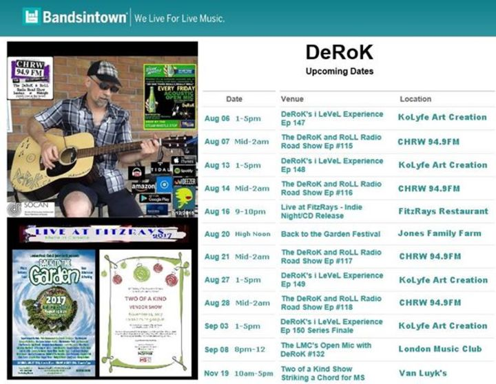 DeRoK Tour Dates