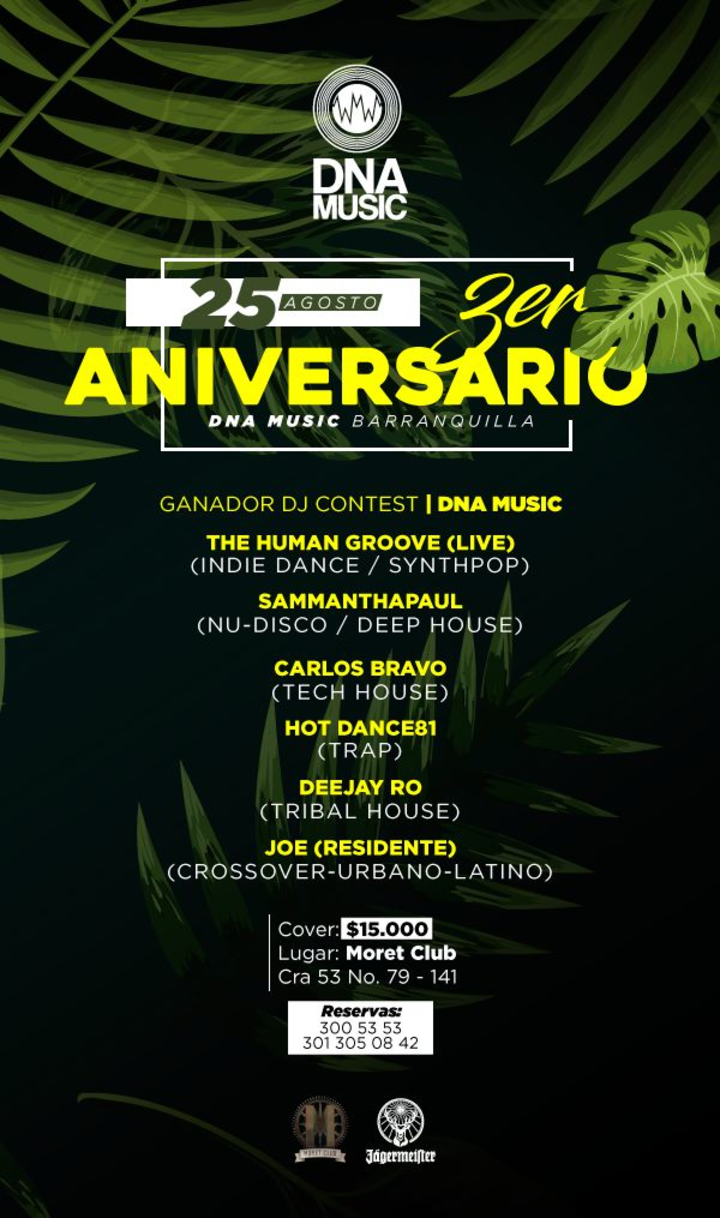 The Human Groove @ 3ER ANIVERSARIO DNA MUSIC BARRANQUILLA @ MORET CLUB - Barranquilla, Colombia