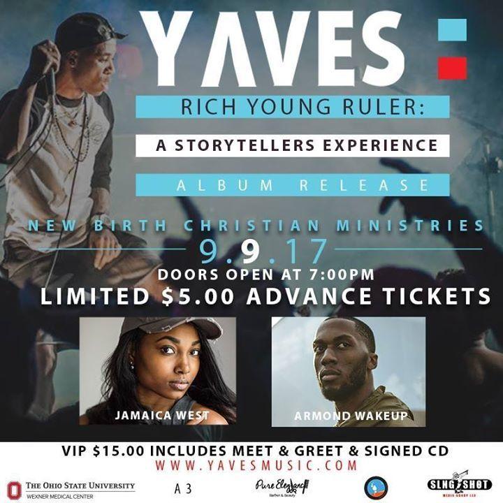 Yaves Ellis Tour Dates