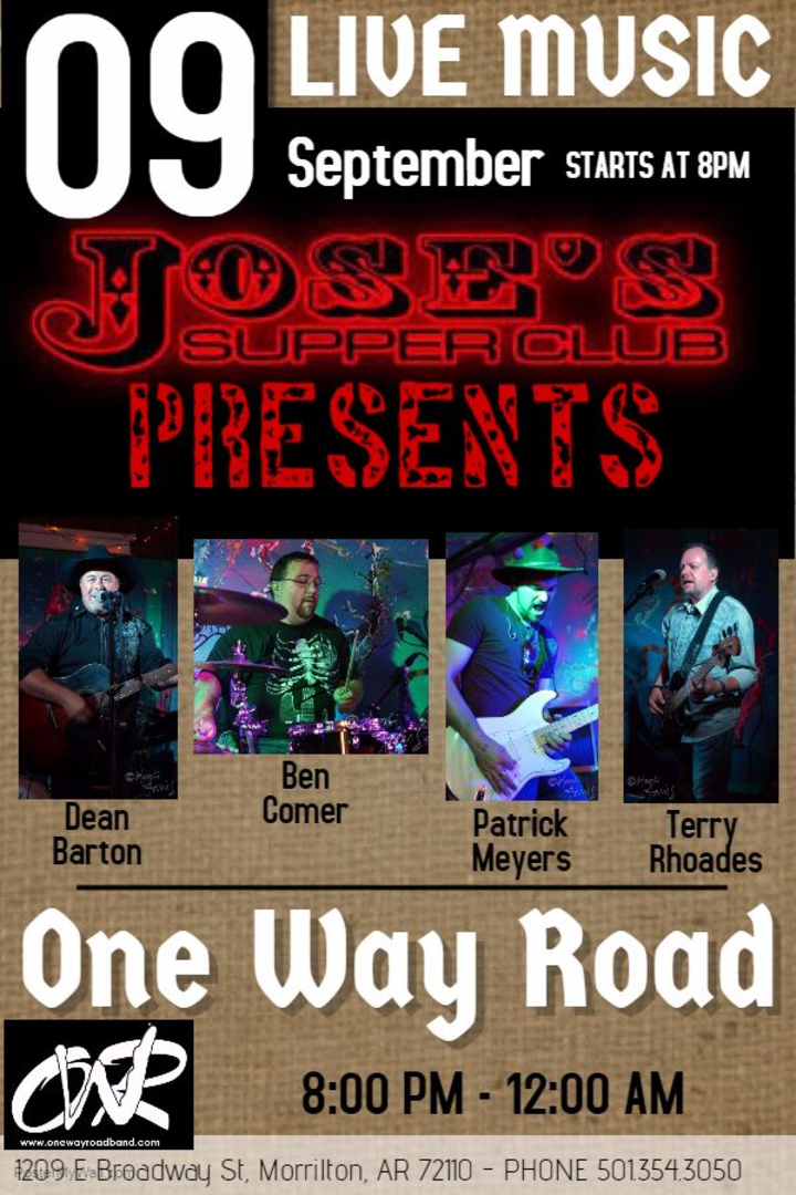 One Way Road Band @ Jose's Supper Club - Morrilton, AR