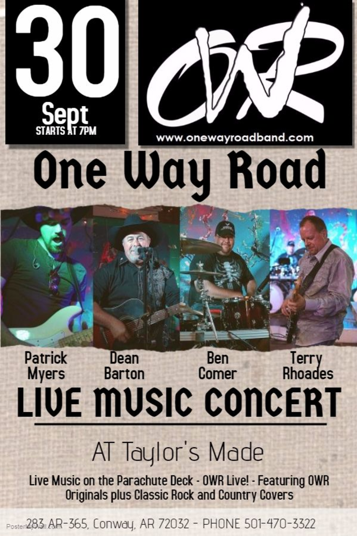 One Way Road Band @ Taylor's Made - Conway, AR