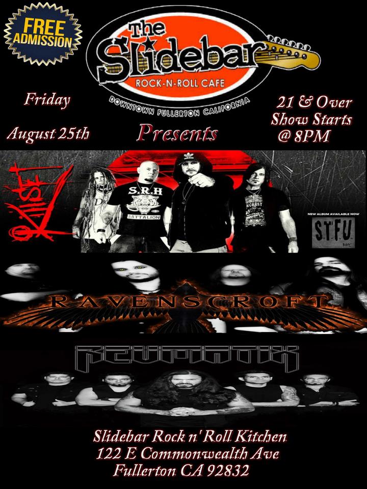 Ravenscroft @  The Slidebar Rock N Roll Kitchen - Fullerton, CA