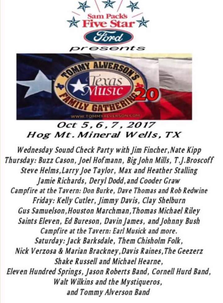 Thomas Michael Riley Music @ Hog Mountain - Mineral Wells, TX