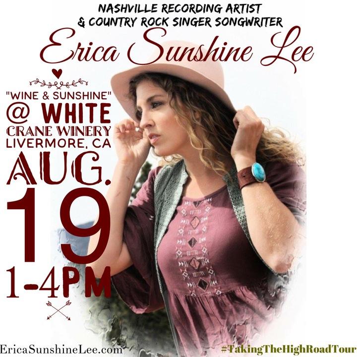 Erica Sunshine Lee @ White Crane Winery 1-4pm SPECIAL EVENT - Livermore, CA