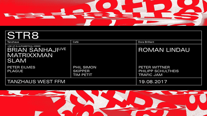 Roman Lindau @ STR8@Tanzhaus West - Frankfurt Am Main, Germany